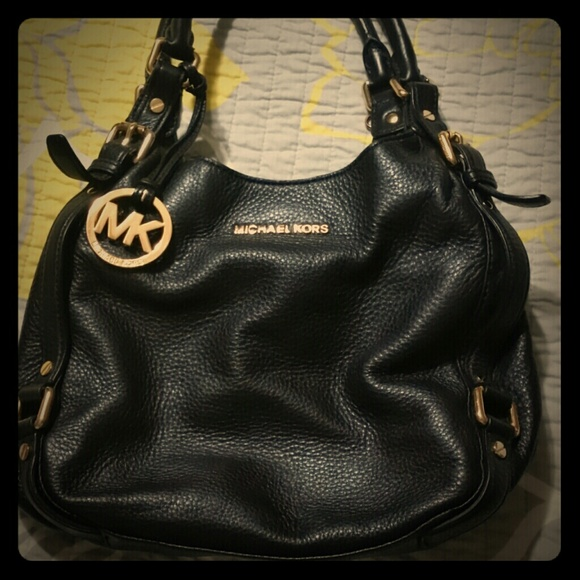 e2a78b7246dd Authentic Michael Kors black soft leather bag. M_547a7e0dfbd594054d049dda