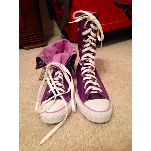 REDUCED‼️ Purple converse high tops NWT