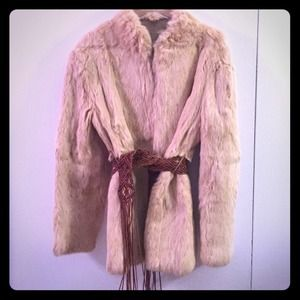 Stunning Vintage 1970's Rabbit Fur Coat