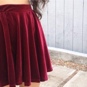Dresses & Skirts - Merlot velvety skater skirt