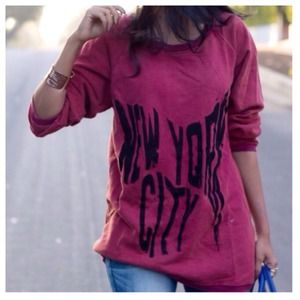Red NYC Sweatshirt