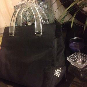prada leather bag - 84% off Prada Handbags - ??AUTHENTIC PRADA TESSUTO SPORT NERO ...