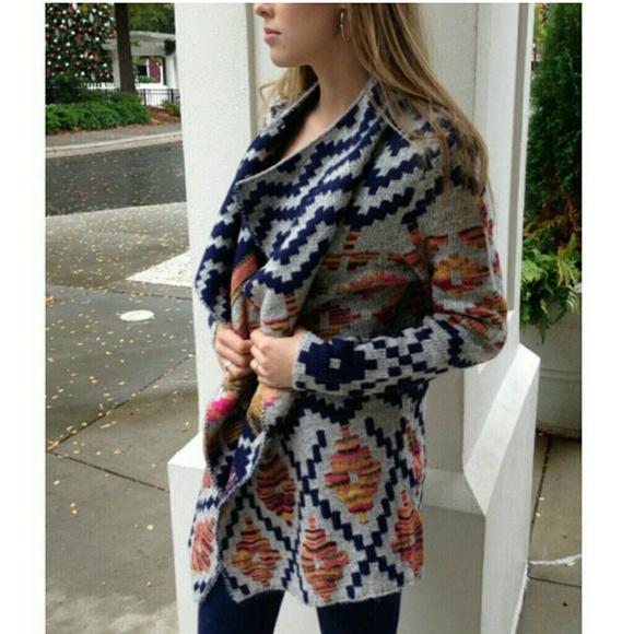 94% off Jackets & Blazers - Sale! Brand New Aztec draped wrap ...