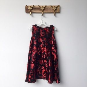 ASOS Red and Black Floral Dress