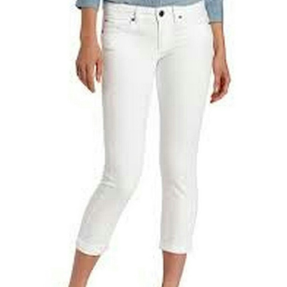 Calvin klein jeans skinny ankle crop in white