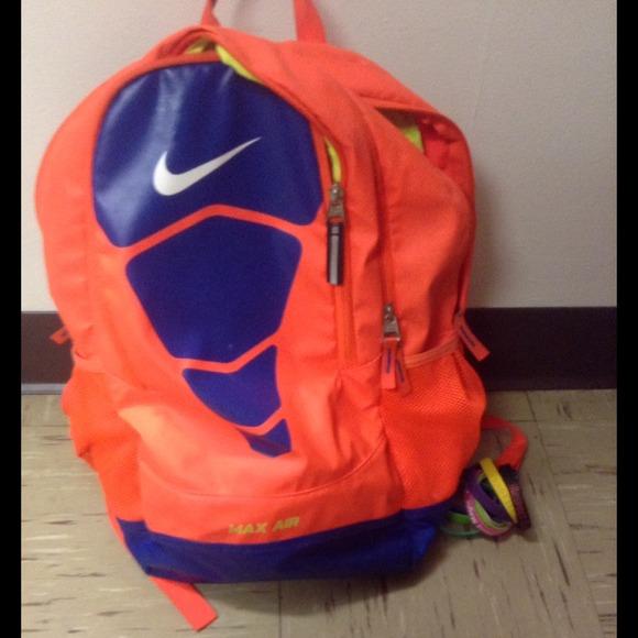 af0ee5799c81 Bright Neon Orange Nike Bookbag. M 547b443572cb8c310620d5c8