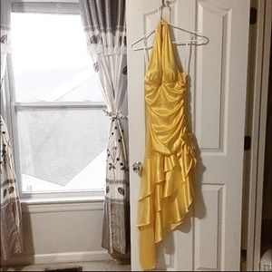 Dresses & Skirts - Yellow/gold prom dress with diamond detailing.