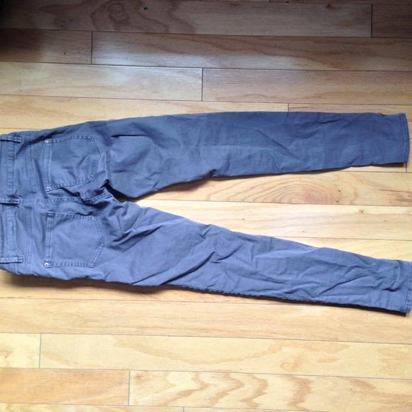 H&M Pants - H and m grey moto / biker pant /denim