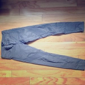 H and m grey moto / biker pant /denim