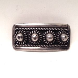 Antique Dutch Silver Zeeland Button Bar Brooch