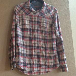 Jachs Girlfriend plaid shirt NWT