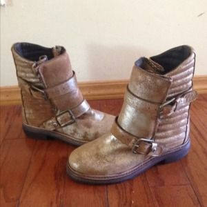 Zadig & Voltaire Shoes - SOLD! NEW Zadig & Voltaire Gold Ginger Boots