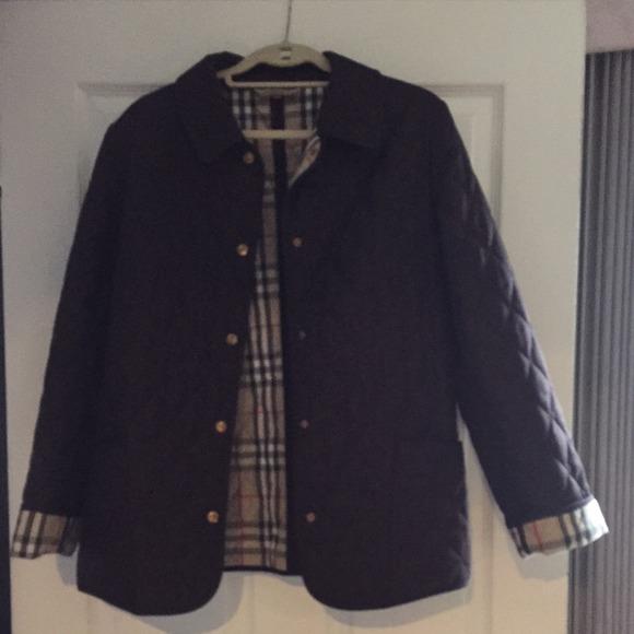 17% off Burberry Jackets & Blazers - Burberry women's brown ... : brown quilted coat - Adamdwight.com
