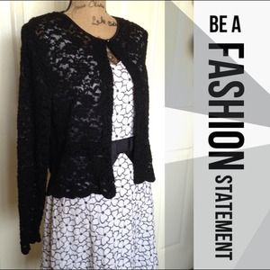 Connected Apparel Jackets & Blazers - Beautiful Black Cardigan