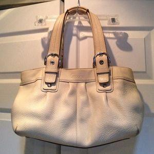 Coach Cream Shoulder Bag 11