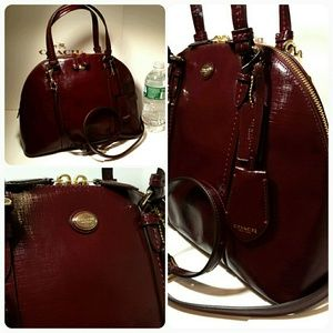 FLASH SALE New Coach domed patent leather satchel