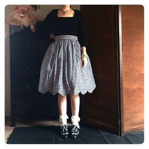Dresses & Skirts - Handmade Japanese Gothic Lolita gingham skirt