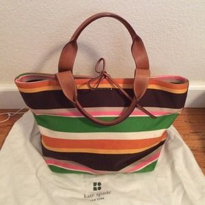 Striped Kate spade bag