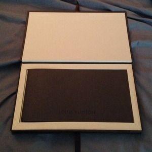 4e18437fa994 Louis Vuitton Accessories - 💯Authentic Louis Vuitton Gift Card Holder   Box