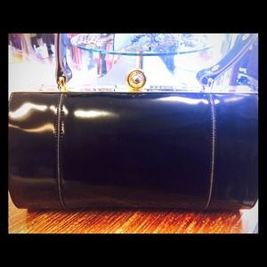 Alberto Di Canio black leather handbag NWT