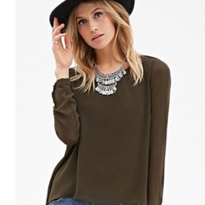 1ae45d7a5d2 Forever 21 Tops - Olive green top