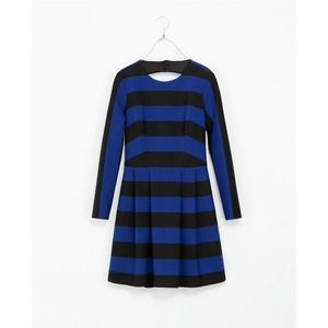 Zara Dresses & Skirts - Zara structured open back stripe dress