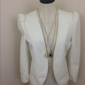 Pins & Needles Jackets & Blazers - Pins and Needles cream Cropped Blazer | size M