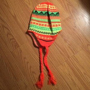 Colorful neon winter beanie
