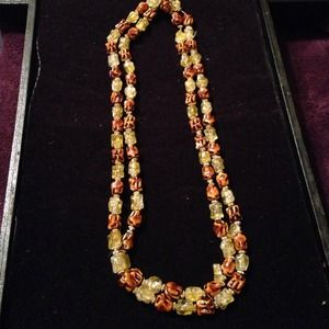 Jewelry - Brown and yellow necklace