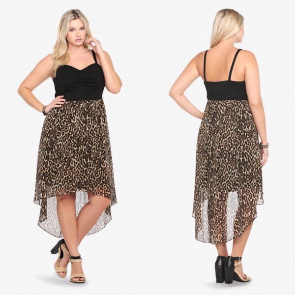 31% off torrid Dresses & Skirts - Animal Print Chiffon Hi-Lo Dress ...