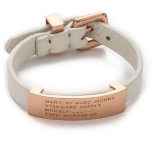 Rose gold and white marc by Marc Jacobs bracelet