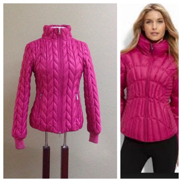 87% off Guess Jackets & Blazers - Guess fuschia pink puffer jacket ...