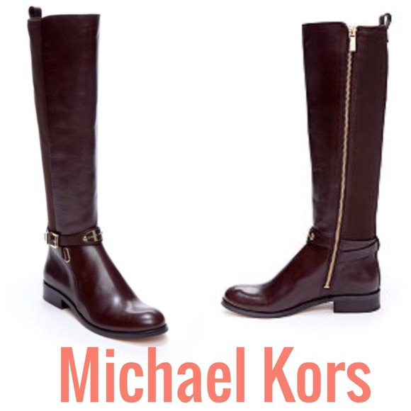 16ff77a8af4a Michael Kors dark brown Arley riding boots. M 547cbaa06474b972892c9f8e