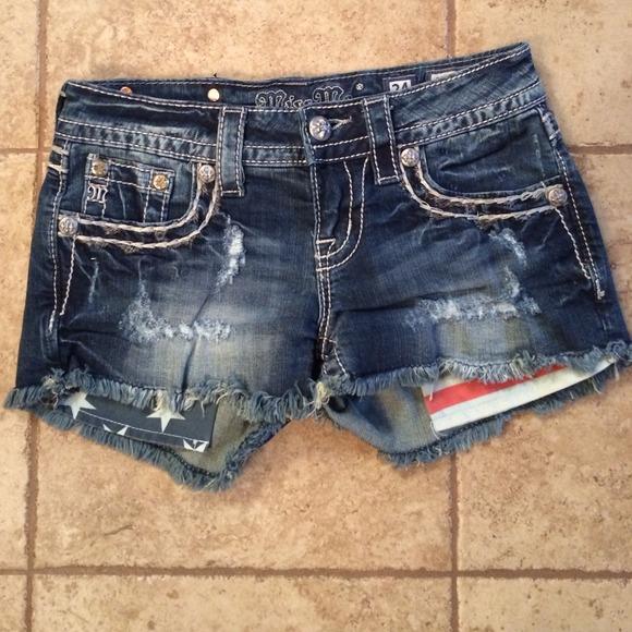 44% off Miss Me Denim - Miss Me American Flag short shorts ...