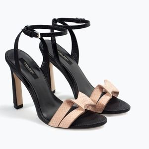 Zara High-heeled sandal with ankle strap