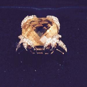Victoria Wieck Jewelry - Orange Citrine 14k gold band ring Victoria Wieck