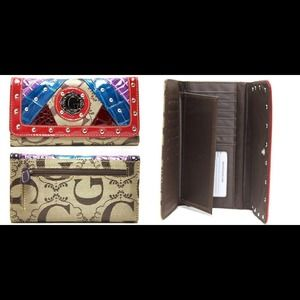 Handbags - Signature G Style Patchwork Trifold Wallet