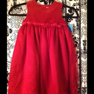 Kids Red Holiday Dress. NWT. Size 4.
