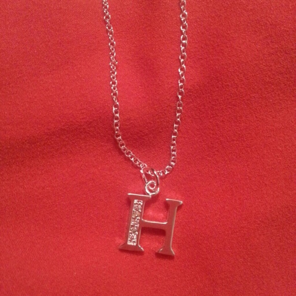 74 jewelry sterling silver letter h necklace from