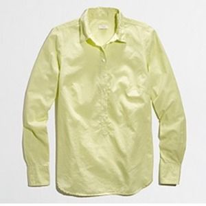 J. Crew Tops - J. Crew Factory Pale Yellow Popover
