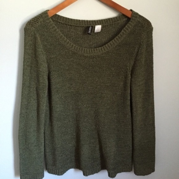 38% off H&M Sweaters - Moss Green Cable Knit Sweater from Casey ...