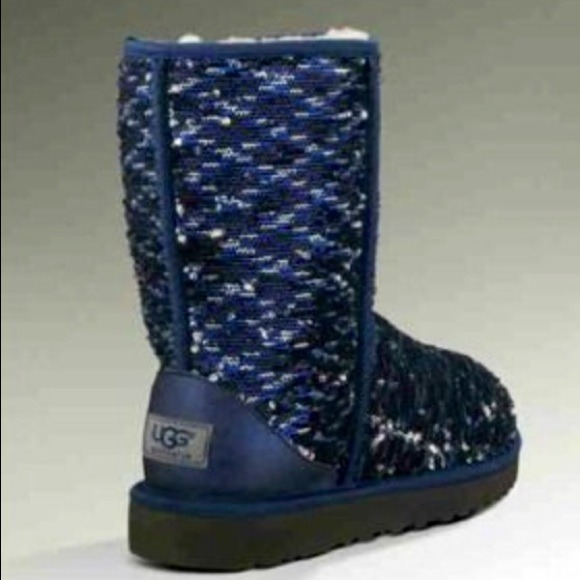 4392541eba6 UGG Australia Classic Two-Tone Short Sparkle Boots