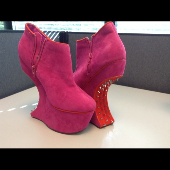 71% off bumper Shoes - Pink spiked heels from Angelique&39s closet