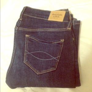Abercrombie & Fitch Dark Bootcut Jeans