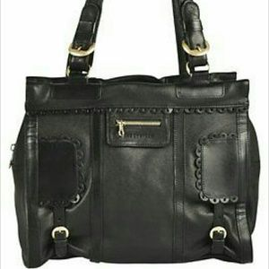 Authentic Black See By Chloe Scallop Shoulder Bag