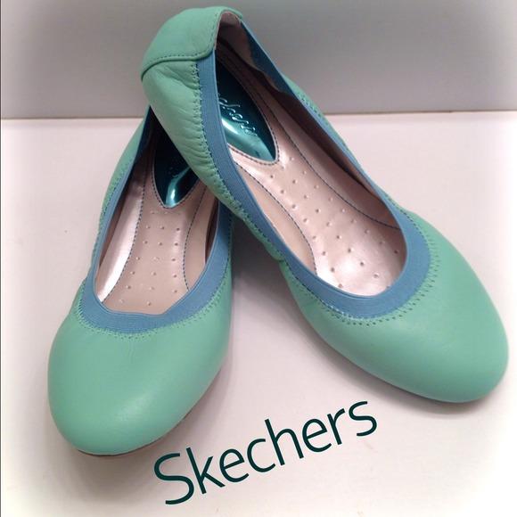 skechers ballet flats Green