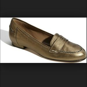 Anyi Lu Shoes - Anyi Lu Olivia metallic Italian leather Flats