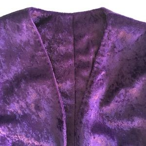 Independent Designer Jackets & Coats - Purple Velvet Bolero Cropped Jacket ⭐️ NWOT🇺🇸