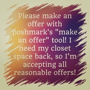 "Accessories - Use Poshmark's ""MAKE AN OFFER!"" tool!"