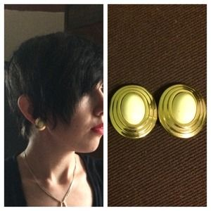 Dior Jewelry - Christian Dior vintage gold cream clip on earrings